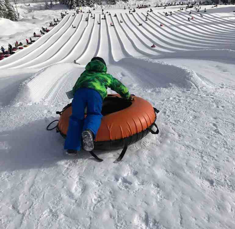 Ready for action - Snoqualmie Snow Tubing