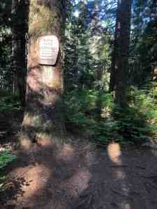 Alpine Lakes Wilderness Sign