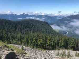 Snoqualmie Pass and I90 from Kendall Gardens
