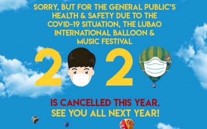 Lubao int'l balloon fest canceled due to Covid-19