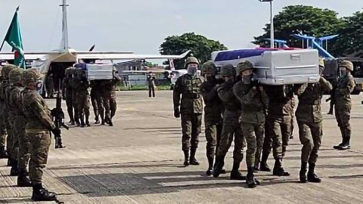 Bodies of 2 soldiers slain in Jolo blasts arrive in Cagayan