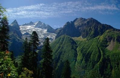 glacier Dombay Greater Caucasus mountains North Caucasus