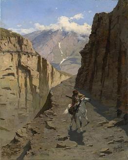 Franz Roubaud Caucasian rider