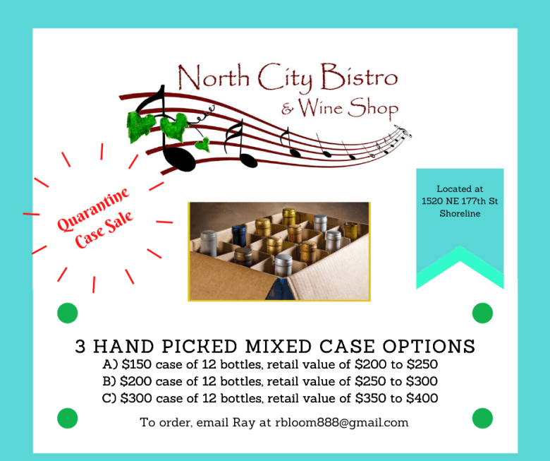 wine case sale at north city bistro