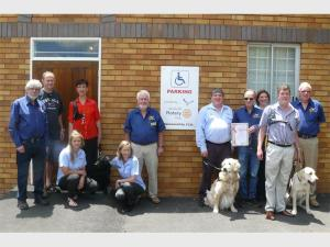 A new parking area and walkway for disabled people
