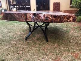 Side-view-coffee-table-on-grass
