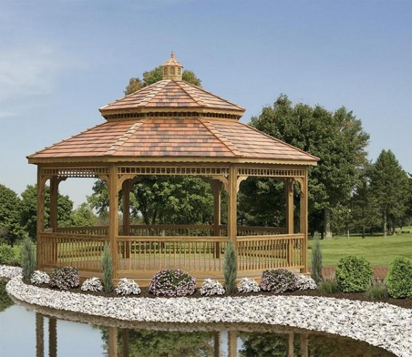 Wood Octagonal Gazebos North Country Shedsnorth Country
