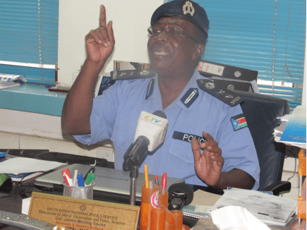 Spokesperson of the Police, Colonel James Monday Enoka in his office
