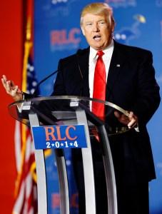 trump podium