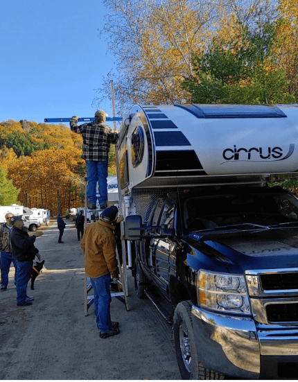 Measuring the truck camper height