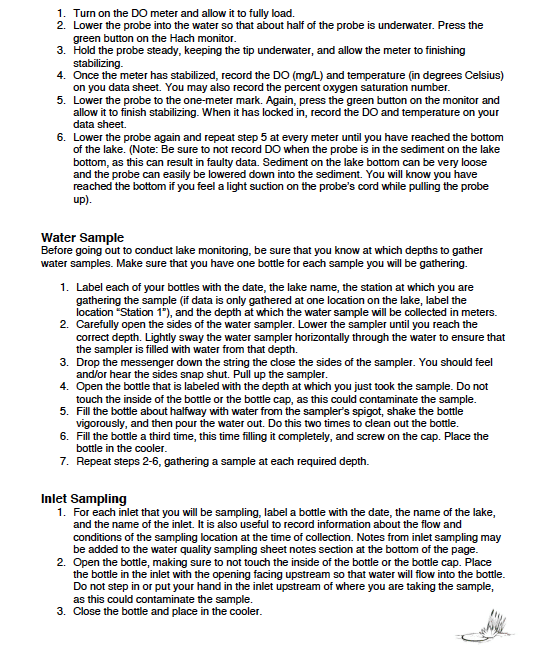 Volunteer monitor guide page 2