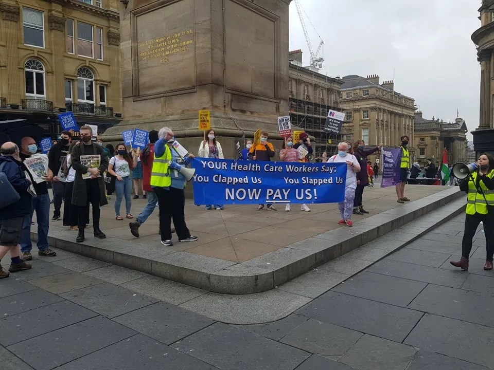 NHS demo in Newcastle today