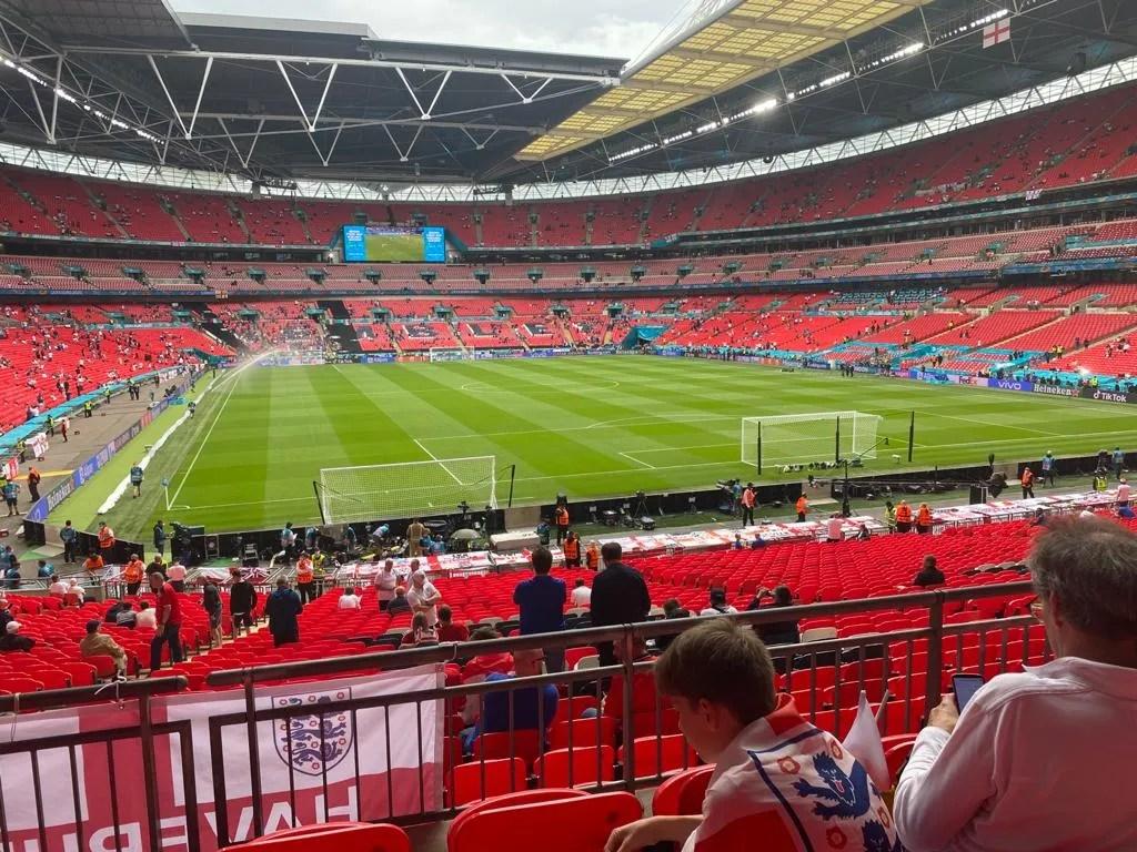 Wembley Stadium at the final