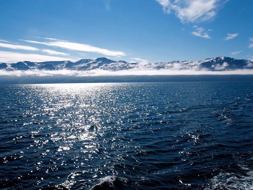 Sea near arctic circle