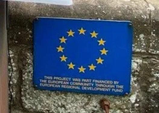EU funding plaque