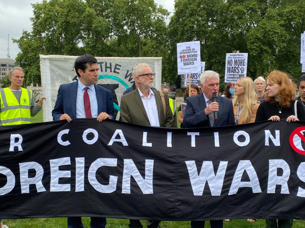 Jeremy Corbyn at the Stop the War coalition protest