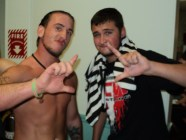 """Greene and """"The Juice"""" JT Dunn following his first NCW match in 2012."""