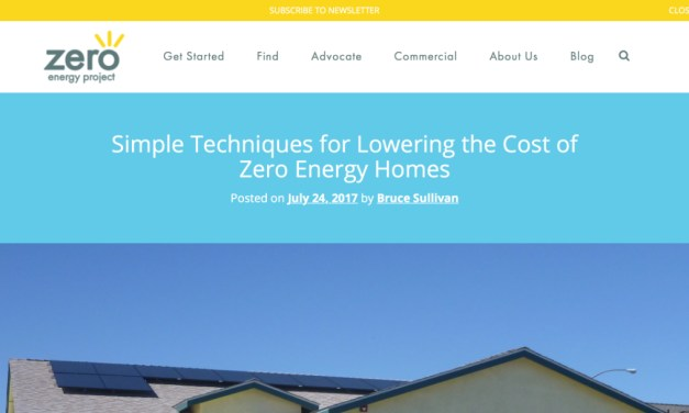 Simple Techniques for Lowering the Cost of Zero Energy Homes – Zero Energy Project