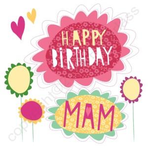 Geordie Mackem Card Happy Birthday Mam