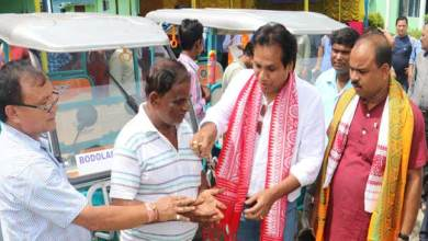 BTC transport dept distributes  E-Rickshaw to beneficiaries
