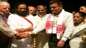 Sri Sri Ravi Shankar expressed willingness to rehabilitate militants back into Mainstream