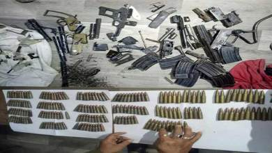 Assam: Dibrugarh police recovered huge quantity of arms and ammunition