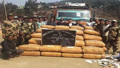 Meghalaya: BSF Seizes Ganja Laden Truck
