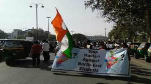 Northeast Student's protest March at Vadodara