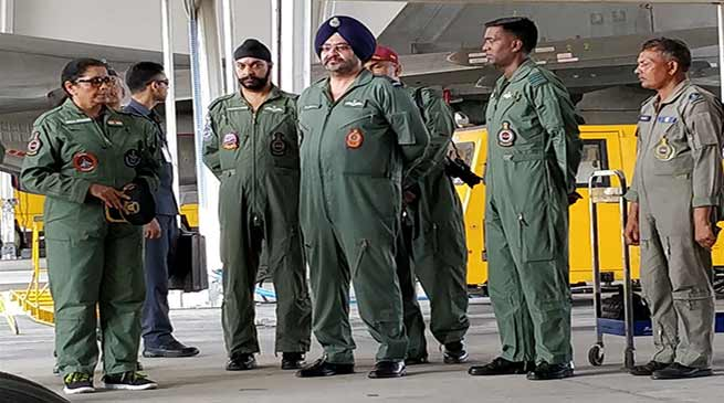 Gagan Shakti : Sitharaman visits Chabua Air Force Station in Assam