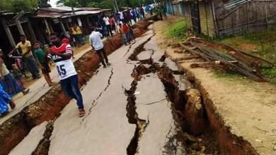 Photo of Assam: 5000 villagers afraid as Cracks due to erosion appear in Hartikar Village