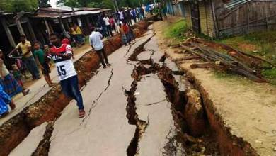 Photo of Assam: 5000 villagers afraid as Cracks due to erosion appear in Hartikar Village