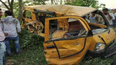 Bus-train collision: 13 children dead, 8 injured