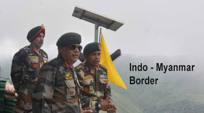 Nagaland:  GOC Eastern Command visits along Indo-Myanmar border