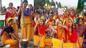 Assam: National Highway Blockade by ABSU in support of Bodoland- 2nd day