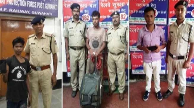 Assam:RPF – NF Railway arrests 61 criminals on charges of theft