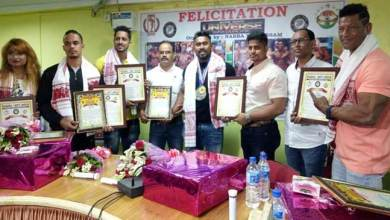Assam: NABBA/WFF Universe athletes from Assam felicitated