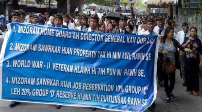 Mizoram: MESL protest against DG post in Home Guards