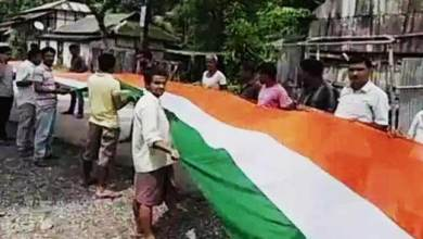 72nd I-Day : Giant National Flags Unfurled in Assam, Gujrat