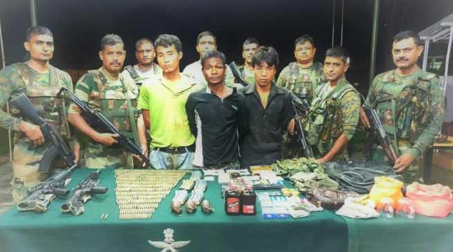 Manipur: 3 NSCN ( K ) Cadres Held With Arms, Ammunition
