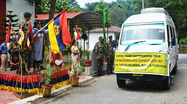 Assam: Army flag off National Integration Tour for Girls Student