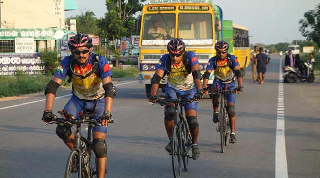 Assam: Cycling expedition by corps of EME of Indian Army
