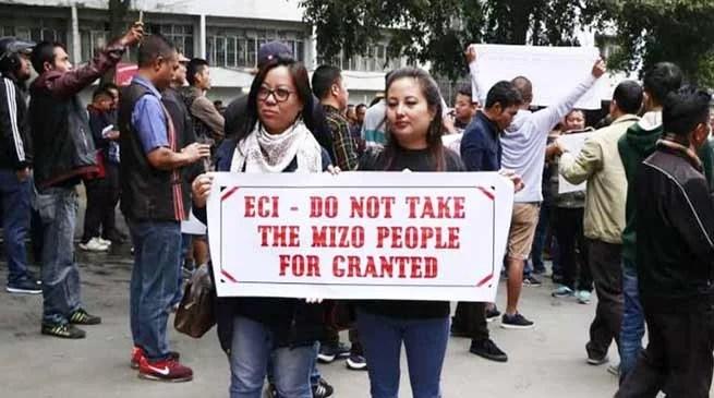 Mizoram: CEO SB Shashank leaves for Delhi, protests called