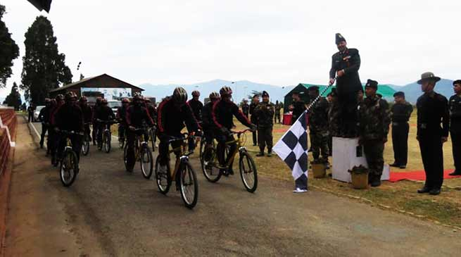 "Tri-Services Cycling and Trekking Expedition for ""Green Sikkim, Clean Sikkim"""