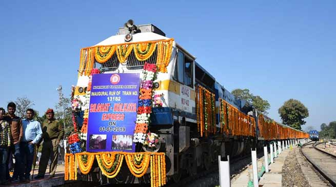 Assam: Silghat - Kolkata new express train flagged off