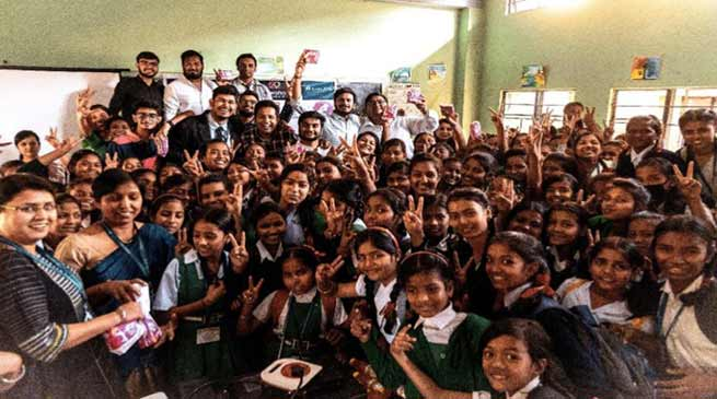 International Women's Day- Rotract Club donates 8000 Sanitary pads to 215 students