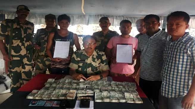 Meghalaya: BSF nabbed persons with huge hawala money