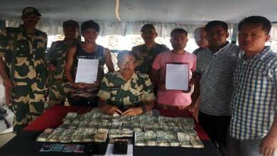Photo of Meghalaya: BSF nabbed persons with huge hawala money