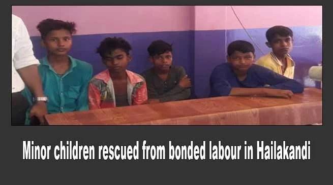 Assam: Five minor children rescued from bonded labour in Hailakandi