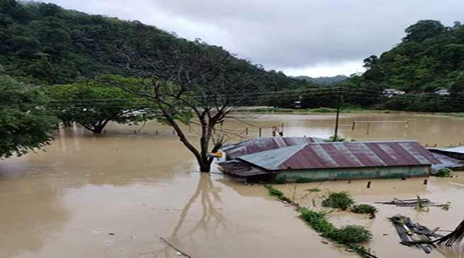 Mizoram flood update: Karnaphuli river in spate, 400 houses submerged in Lunglei