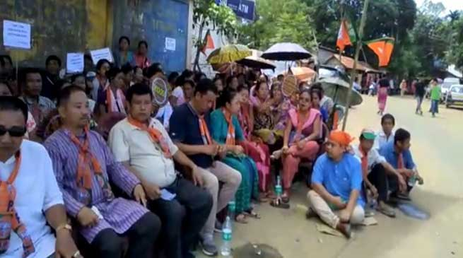 Mizoram: BJPprotest against Chakma Council's new land law